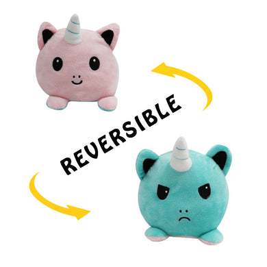 Wholesale Reversible Plushie Toys, Flip Mood Toy Unicorn Key Chain