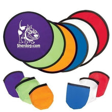 Load image into Gallery viewer, Foldable Promotional Custom Logo Folding Flyer Frisbees 10 Inch