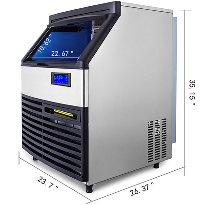 Ice Maker Ice Cube Machine 120kg/265lb Commercial Water Filter Microcomputer510w