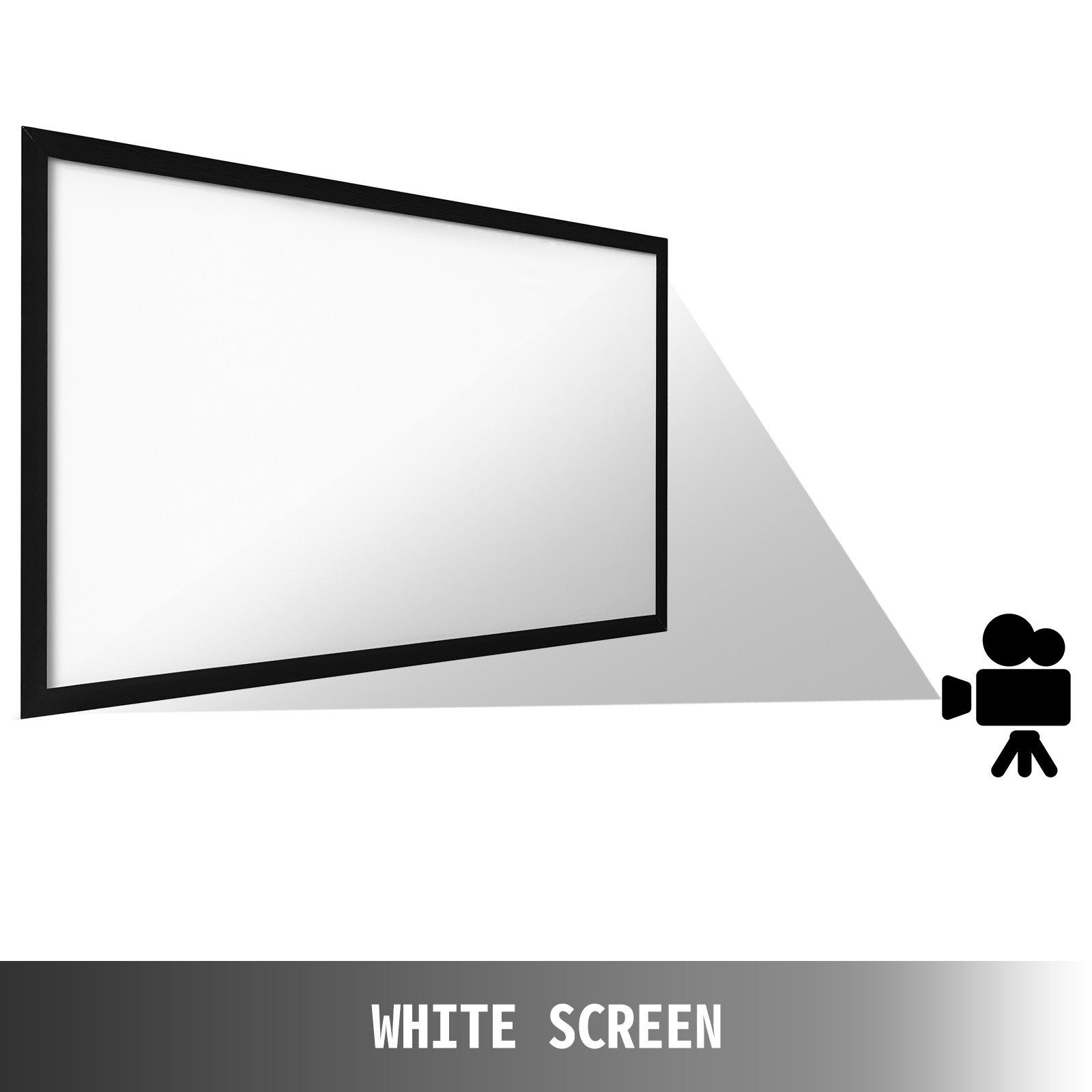 "Big 110"" Diagonal 16:9 Hd Projector Screen Home Theater Outdoor Use"