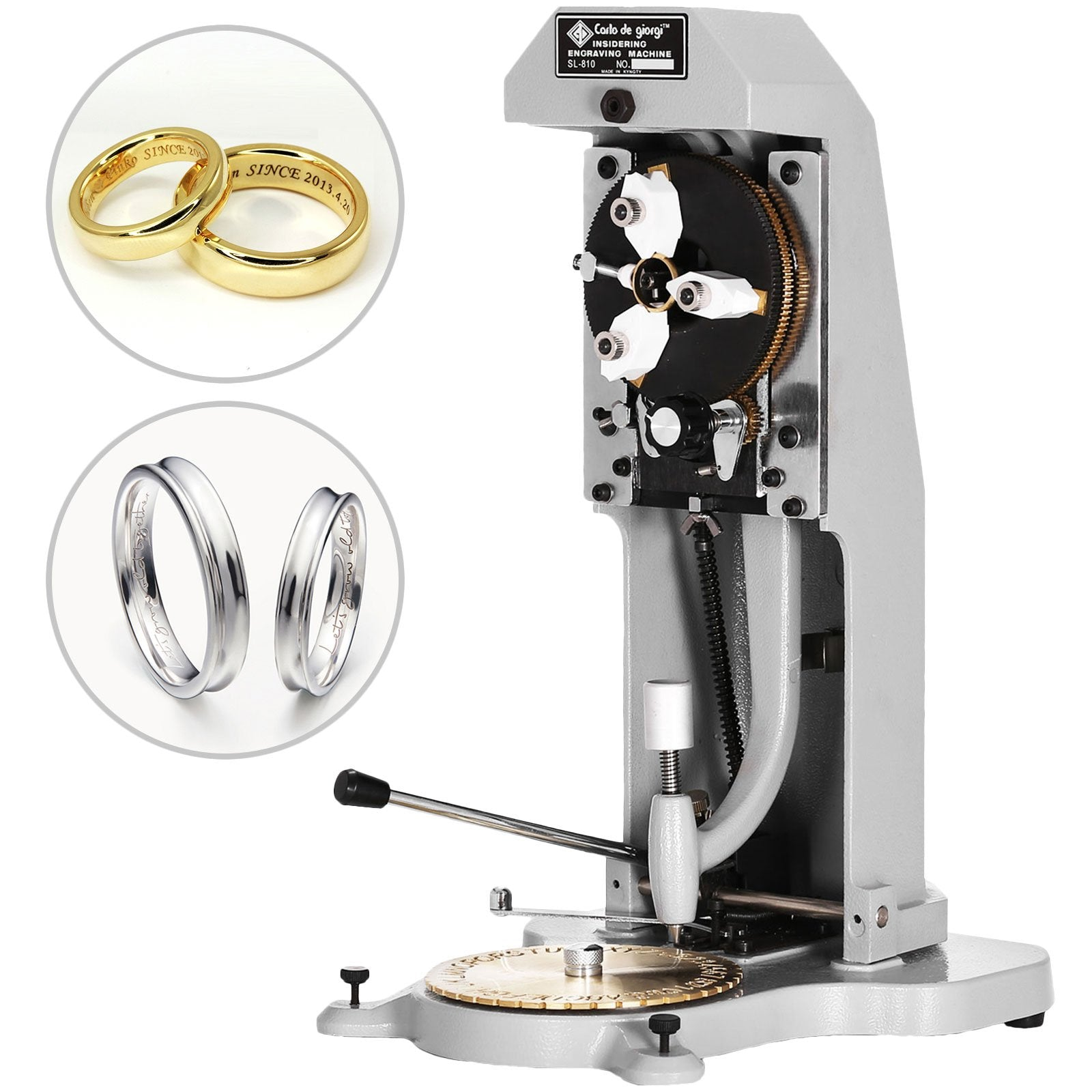 Ring Engraving Machine Con Doppia Sided Dial Macchina Per Incisione Metalli