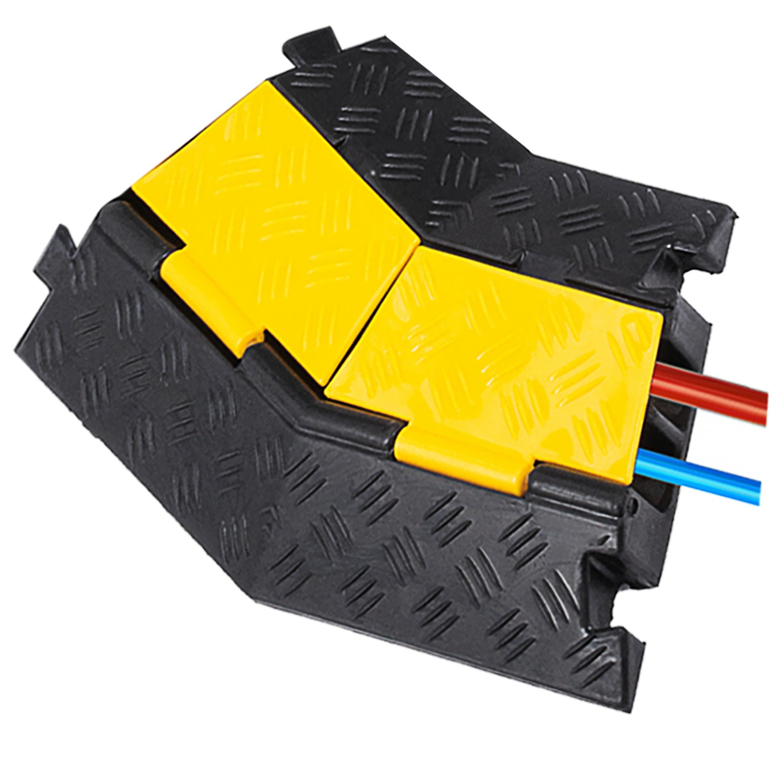 4 Pack Rubber Cable Protector Ramp 45 Right Turn Visible High Traffic Pedestrian