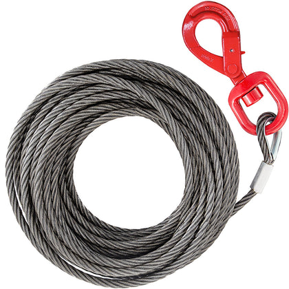 10mm×15m Cavo In Fibra Verricello Self Locking Hook Resistenza Camion V-chain