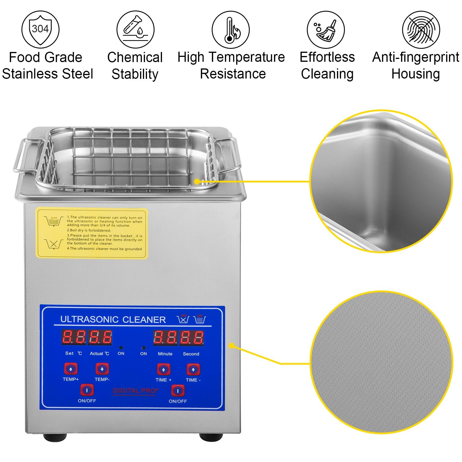 Pulitore Ad Ultrasuoni 30l Dental Digital Ultrasonic Cleaner Lavatrice Con Timer