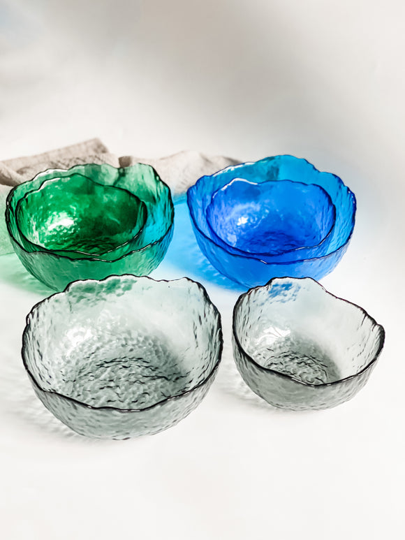 Glacier Glass Bowl Set