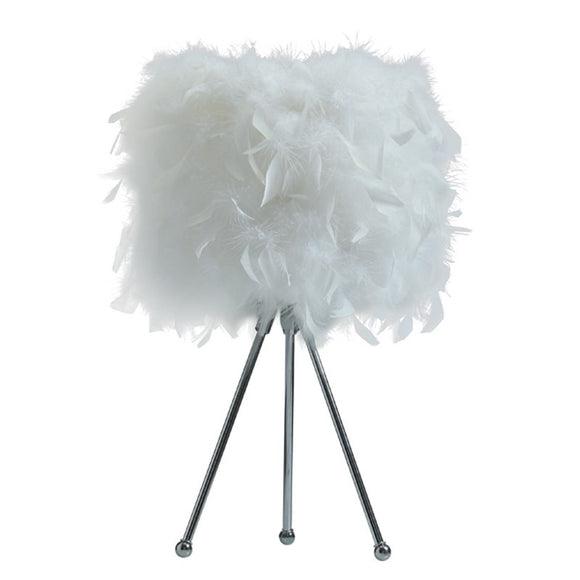Audrey Feathered Desk Lamp (Tripod)