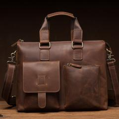 Crazy Horse Leather Briefcase