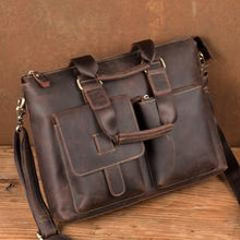 Load image into Gallery viewer, Crazy Horse Leather Briefcase