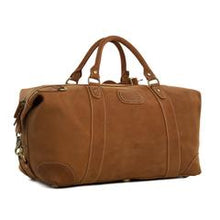 Load image into Gallery viewer, Vintage Brown Genuine Natural Leather Overnight Bag