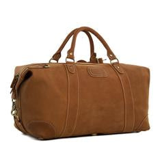 Vintage Brown Genuine Natural Leather Overnight Bag