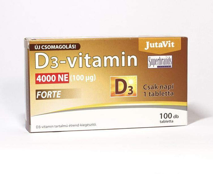 JutaVit D3-vitamin 4000NE (100μg) 100 db Vitaminok VitaminPro.hu