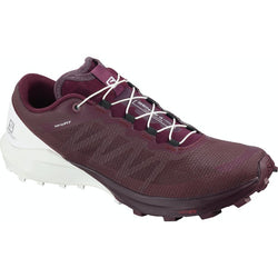 Salomon Women's Sense 4 Pro Winetasting/White/Icy Morn