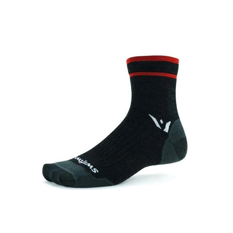 Swiftwick Merino Wool Socks - Pursuit Four Quarter Crew Ultralight Cushion