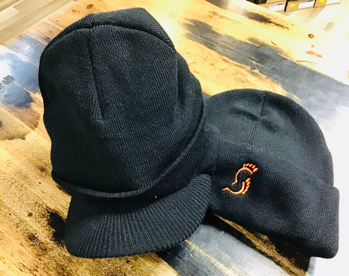 Rollover Toque with Brim - Ten Toe'n - Black