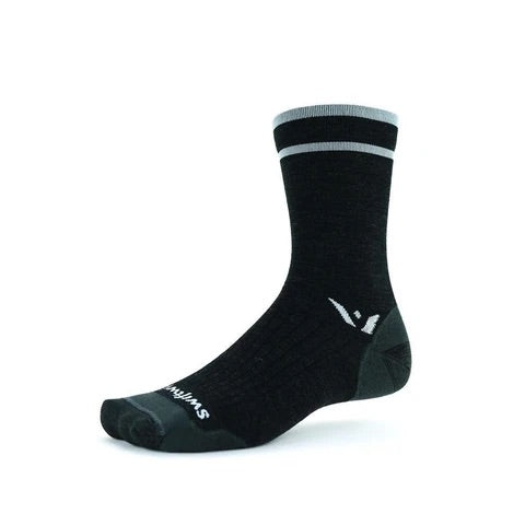 Swiftwick Merino Wool Socks - Pursuit Seven Crew Ultralight Cushion