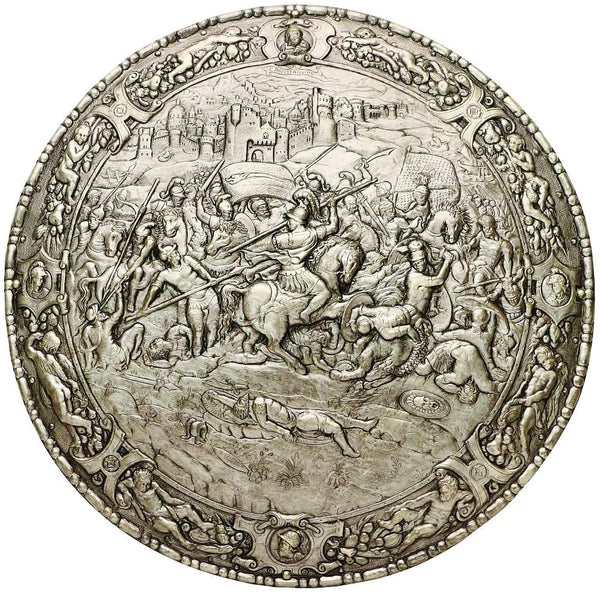 Spanish Round Shield 16th Century Philip II by Marto of Toledo Spain 100