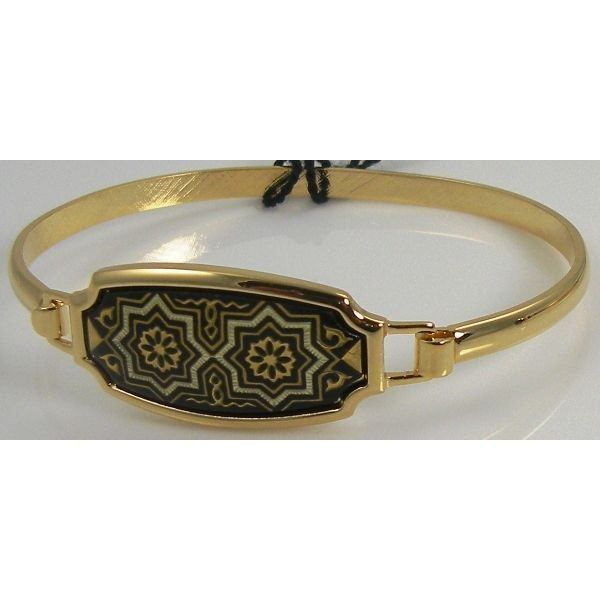 Damascene Gold Star Bracelet by Midas of Toledo Spain style 2080