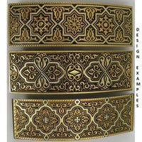 Damascene Gold Geometric Rectangle Hair Barrette by Midas of Toledo Spain style 850007