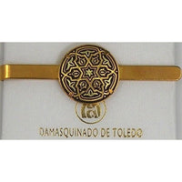 Damascene Gold Mens Tie Bar Star of David by Midas of Toledo Spain style 2602