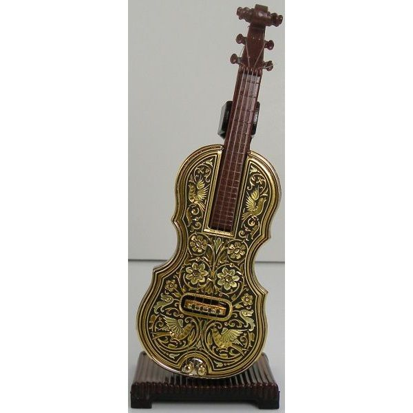 Damascene Gold Miniature Violin by Midas of Toledo Spain style 847002