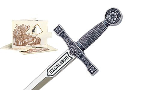 Miniature Excalibur Sword (Silver) by Marto of Toledo Spain