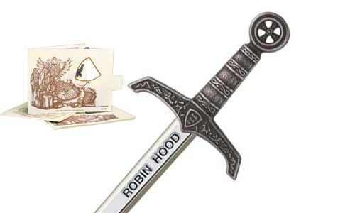 Miniature Robin Hood Sword (Silver) by Marto of Toledo Spain