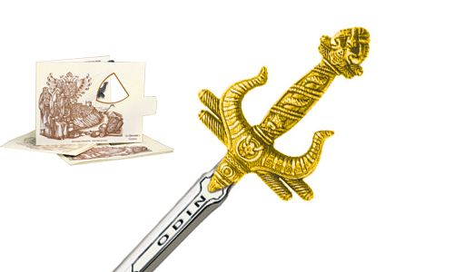 Miniature Odin Sword (Gold) by Marto of Toledo Spain