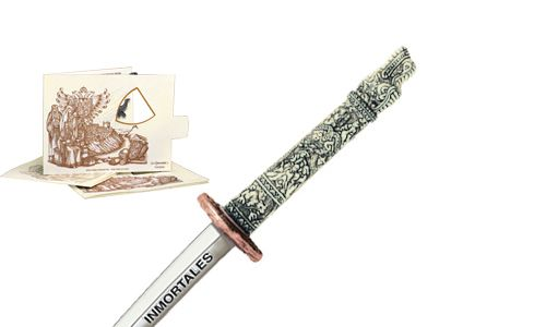 "Miniature ""Highlander"" Dragon Samurai Katana Sword (Bronze) by Marto of Toledo Spain"