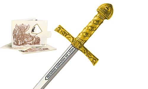Miniature King Richard the Lionheart Sword (Gold) by Marto of Toledo Spain