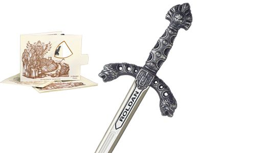 Miniature Roldan Sword (Silver) by Marto of Toledo Spain