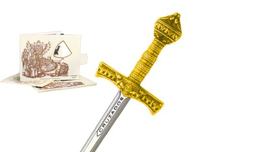 Miniature Crusader Sword (Gold) by Marto of Toledo Spain