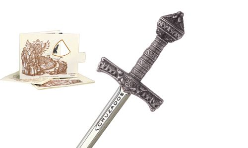 Miniature Crusader Sword (Silver) by Marto of Toledo Spain