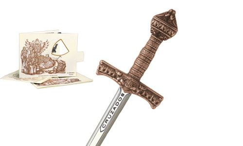 Miniature Crusader Sword (Bronze) by Marto of Toledo Spain