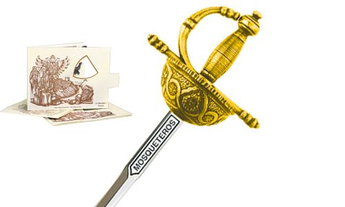 Miniature Three Musketeers Rapier Sword (Gold) by Marto of Toledo Spain