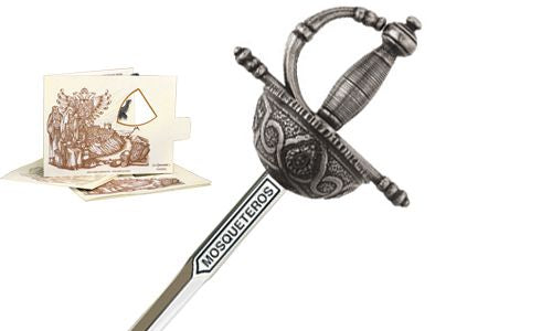Miniature Three Musketeers Rapier Sword (Silver) by Marto of Toledo Spain