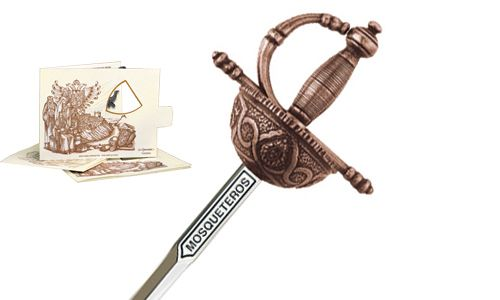 Miniature Three Musketeers Rapier Sword (Bronze) by Marto of Toledo Spain