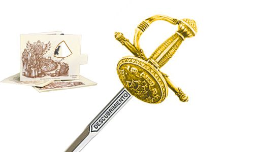 Miniature Discovery Rapier Sword (Gold) by Marto of Toledo Spain