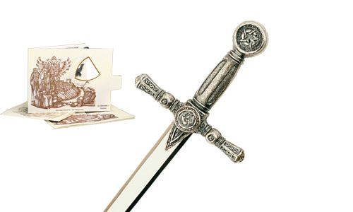 Miniature Masonic Sword (Silver) by Marto of Toledo Spain