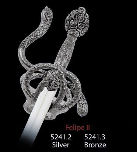 Miniature Philip II Sword (Silver) by Marto of Toledo Spain Limited Edition