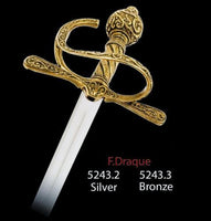 Miniature Sir Francis Drake Sword (Silver) by Marto of Toledo Spain Limited Edition