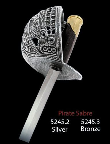 Miniature Pirate Sabre Sword (Silver) by Marto of Toledo Spain Limited Edition