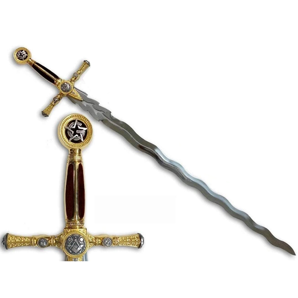 Masonic Grand Master Sword by Marto of Toledo Spain (Gold) 775
