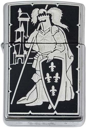 Damascene Zippo Lighter by Marto of Toledo Spain (French Knight)