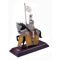 Mounted French Knight of King Richard the Lionheart in Suit of Armor by Marto of Toledo Spain