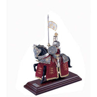 Mounted French Knight of King Arthur in Suit of Armor by Marto of Toledo Spain