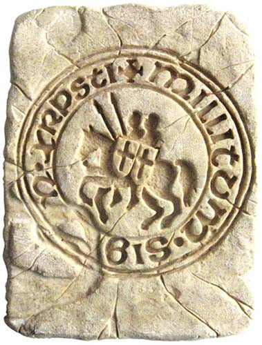 Tile with Templar Seal by Marto of Toledo Spain