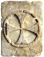 Tile with Templar Cross Patte by Marto of Toledo Spain