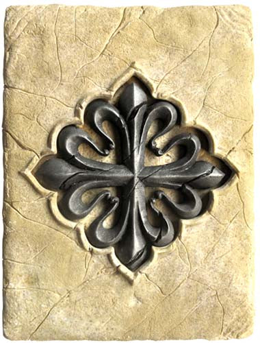 Tile with Templar Calatrava Cross by Marto of Toledo Spain