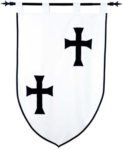 Templar Knight Teutonic Order Banner by Marto of Toledo Spain (Double faced)