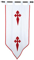 Templar Knight Order of Saint James Banner by Marto of Toledo Spain (Double faced)